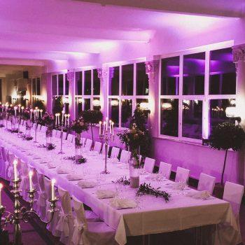 Boutiqe Hotel Badehof Wandelhalle gedeckter Tisch