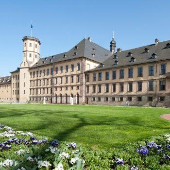 Schlossgarten Stadtschloss seitlich Sommer